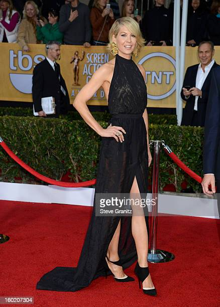 Actress Jenna Elfman arrives at the 19th Annual Screen Actors Guild Awards held at The Shrine Auditorium on January 27 2013 in Los Angeles California