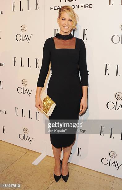 Actress Jenna Elfman arrives at the ELLE Women In Television Celebration at Sunset Tower on January 22 2014 in West Hollywood California