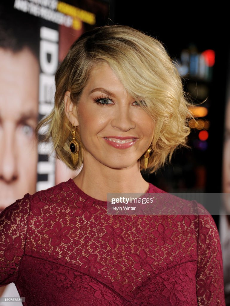 Actress Jenna Elfman arrives at the premiere of Universal Pictures' 'Identity Thief' at the Village Theatre on February 4, 2013 in Los Angeles, California.