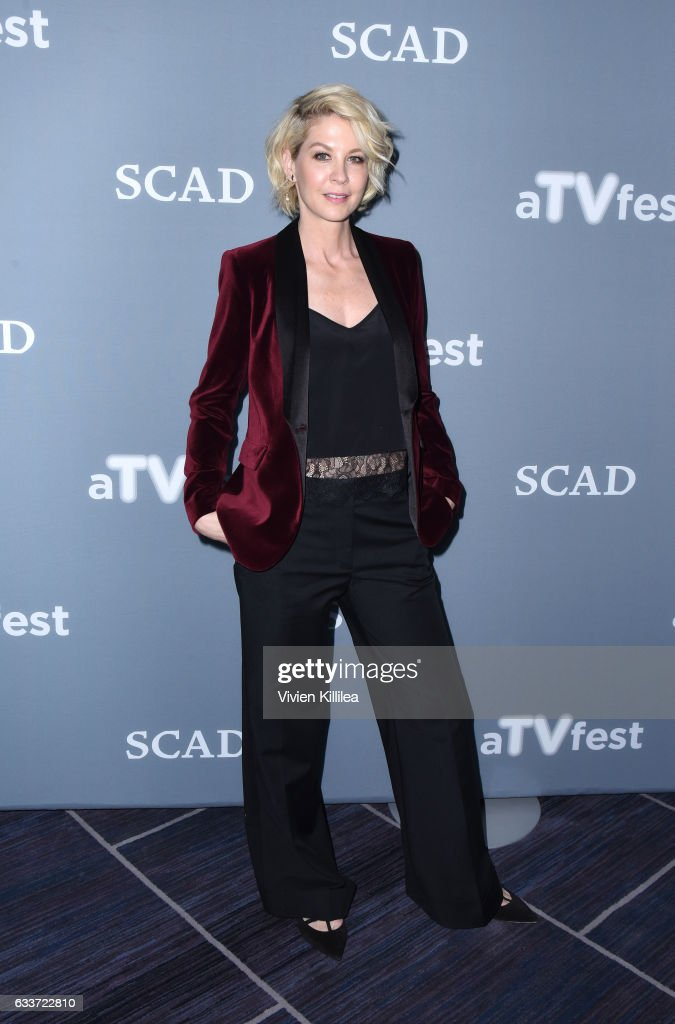 Actress Jenna Elfman attends during a press junket for 'Imaginary Mary' on Day Two of aTVfest 2017 presented by SCAD on February 3, 2017 in Atlanta, Georgia.