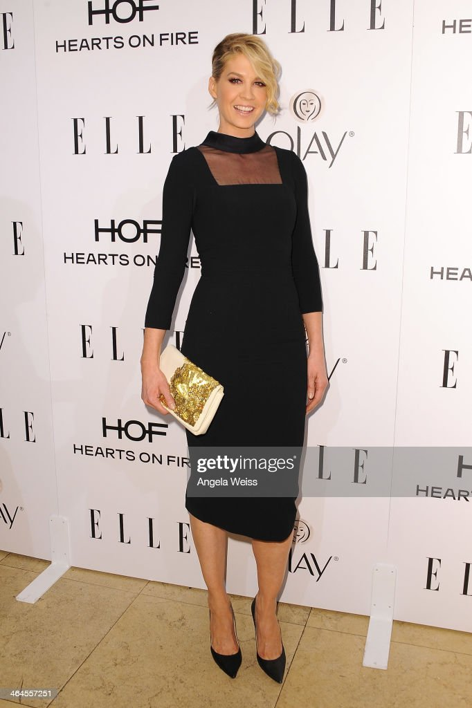 Actress <a gi-track='captionPersonalityLinkClicked' href=/galleries/search?phrase=Jenna+Elfman&family=editorial&specificpeople=204782 ng-click='$event.stopPropagation()'>Jenna Elfman</a> attends ELLE's Annual Women in Television Celebration at Sunset Tower on January 22, 2014 in West Hollywood, California.