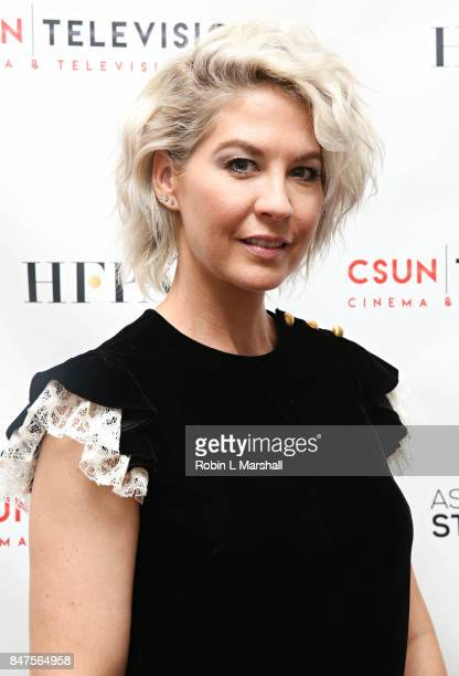 Actress Jenna Elfman attends Northridge's Dedication of the Hollywood Foreign Press Association Wing at California State University Northridge on...