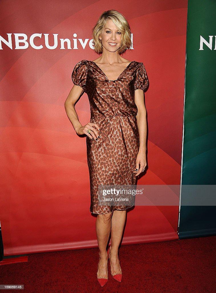 Actress Jenna Elfman attends the 2013 NBC TCA Winter Press Tour at The Langham Huntington Hotel and Spa on January 6, 2013 in Pasadena, California.
