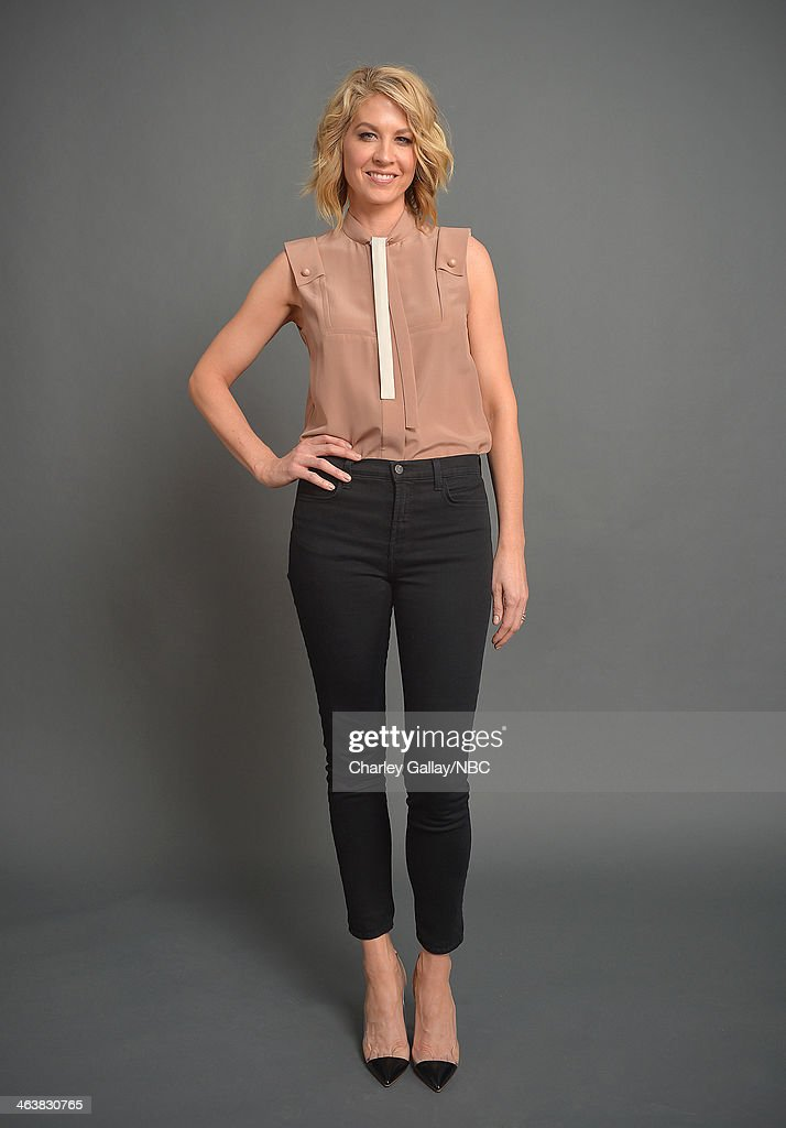 Actress <a gi-track='captionPersonalityLinkClicked' href=/galleries/search?phrase=Jenna+Elfman&family=editorial&specificpeople=204782 ng-click='$event.stopPropagation()'>Jenna Elfman</a> attends the 2014 NBCUniversal TCA Winter Press Tour Portraits at Langham Hotel on January 19, 2014 in Pasadena, California.