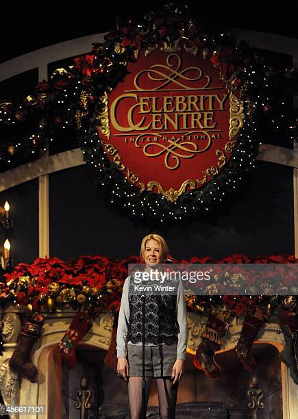 Actress Jenna Elfman attends the Church of Scientology Celebrity Centre's 21st 'Christmas Stories' at the Church of Scientology Celebrity Centre on...