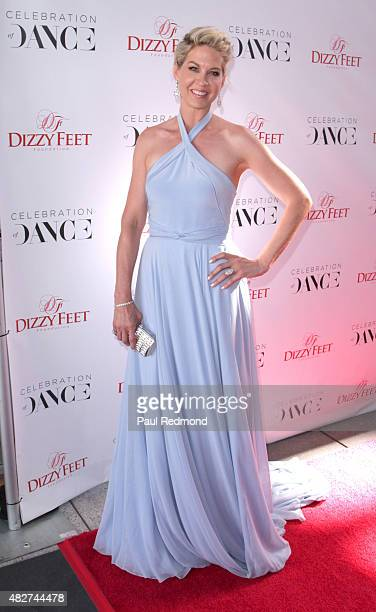 Actress Jenna Elfman attends the Dizzy Feet Foundation's 5th Annual Celebration Of Dance Gala at Microsoft Theater on August 1 2015 in Los Angeles...