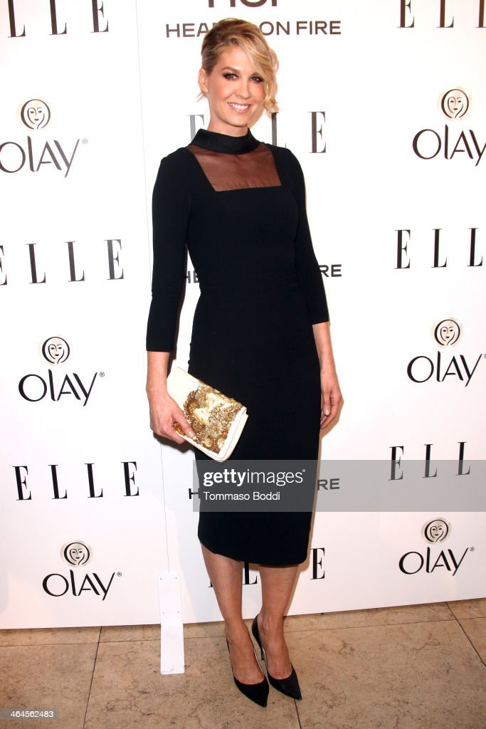 Actress <a gi-track='captionPersonalityLinkClicked' href=/galleries/search?phrase=Jenna+Elfman&family=editorial&specificpeople=204782 ng-click='$event.stopPropagation()'>Jenna Elfman</a> attends the ELLE Women In Television Celebration held at the Sunset Tower on January 22, 2014 in West Hollywood, California.