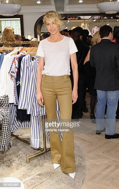 Actress Jenna Elfman attends Tommy Hilfiger New West Coast Flagship Opening on Robertson Boulevard on February 13 2013 in West Hollywood California