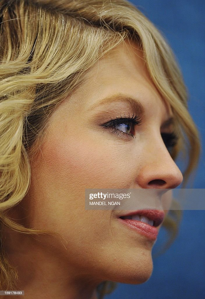 Actress Jenna Elfman is seen during a press conference with the cast and producers of NBC comedy '1600 Penn' on January 9, 2013 at the National Press Club in Washington, DC. AFP PHOTO/Mandel NGAN