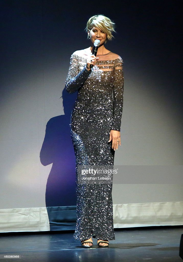 Actress Jenna Elfman performs onstage during The Music Center's 50th Anniversary Spectacular at The Music Center on December 6 2014 in Los Angeles...