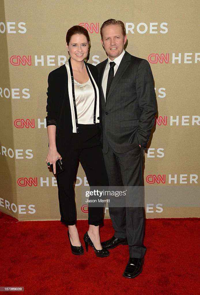 Actress Jenna Fischer (L) and Lee Kirk attends the CNN Heroes: An All Star Tribute at The Shrine Auditorium on December 2, 2012 in Los Angeles, California. 23046_004_JM_0824.JPG