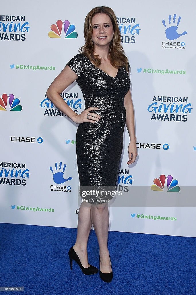 Actress Jenna Fischer arrives at the 2nd Annual American Giving Awards presented by Chase held at the Pasadena Civic Auditorium on December 7, 2012 in Pasadena, California.