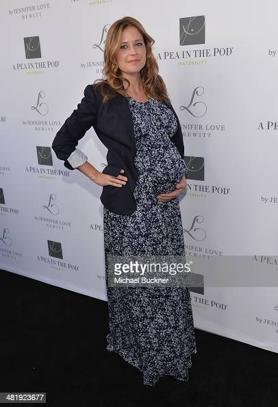 Actress Jenna Fischer arrives at the Launches of Jennifer Love Hewitt's new maternity line 'L by Jennifer Love Hewitt' at A Pea In The Pod on April 1...