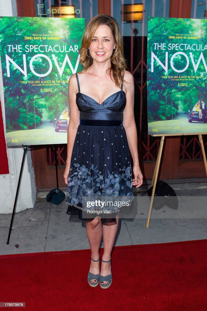 Actress Jenna Fischer arrives at 'The Spectacular Now' - Los Angeles Special Screening at the Vista Theatre on July 30, 2013 in Los Angeles, California.