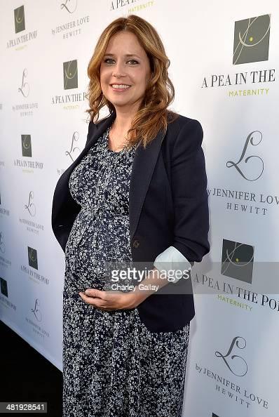 Actress Jenna Fischer attends the launch of Jennifer Love Hewitt's new maternity line 'L By Jennifer Love Hewitt' at A Pea In The Pod on April 1 2014...