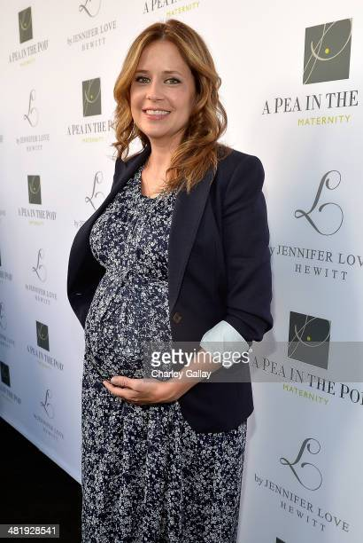 Actress Jenna Fischer attends the launch of Jennifer Love Hewitt's new maternity line 'L By Jennifer Love Hewitt' at A Pea In The Pod on April 1 2014...