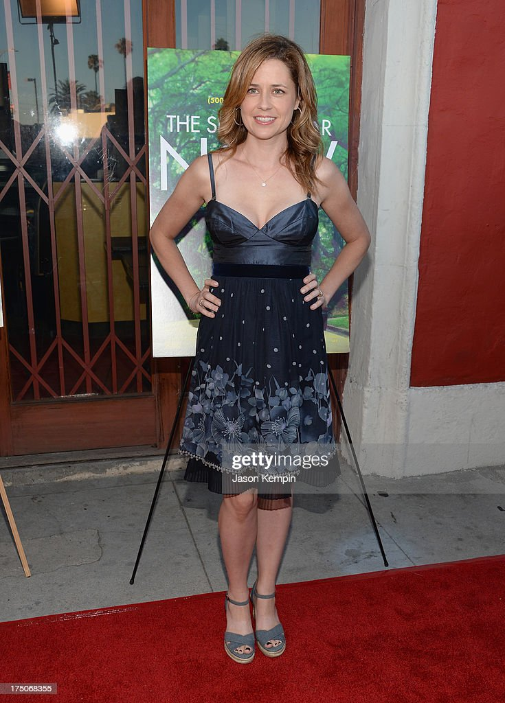 Actress <a gi-track='captionPersonalityLinkClicked' href=/galleries/search?phrase=Jenna+Fischer&family=editorial&specificpeople=274744 ng-click='$event.stopPropagation()'>Jenna Fischer</a> attends the screening of A24's 'The Spectacular Now' at the Vista Theatre on July 30, 2013 in Los Angeles, California.