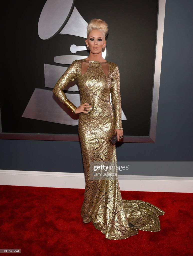 Actress Jenna Jameson attends the 55th Annual GRAMMY Awards at STAPLES Center on February 10, 2013 in Los Angeles, California.