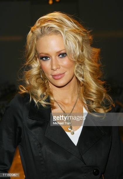 Actress Jenna Jameson front row at Bow Arrow Fall 2008 collection during Mercedes Benz LA Fashion Week held at Smashbox Studios on March 11 2008 in...