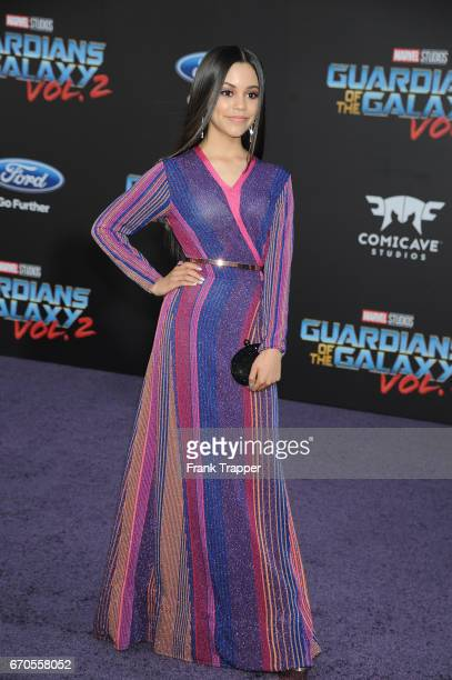 Actress Jenna Ortega attends the premiere of Disney and Marvel's 'Guardians Of The Galaxy Vol 2' at the Dolby Theatre on April 19 2017 in Hollywood...