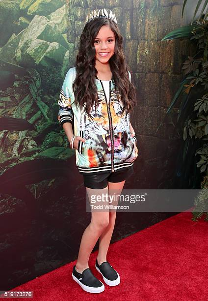 Actress Jenna Ortega attends the premiere of Disney's 'The Jungle Book' at the El Capitan Theatre on April 4 2016 in Hollywood California