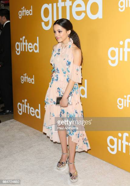 Actress Jenna Ortega attends the premiere of 'Gifted' at Pacific Theaters at the Grove on April 4 2017 in Los Angeles California
