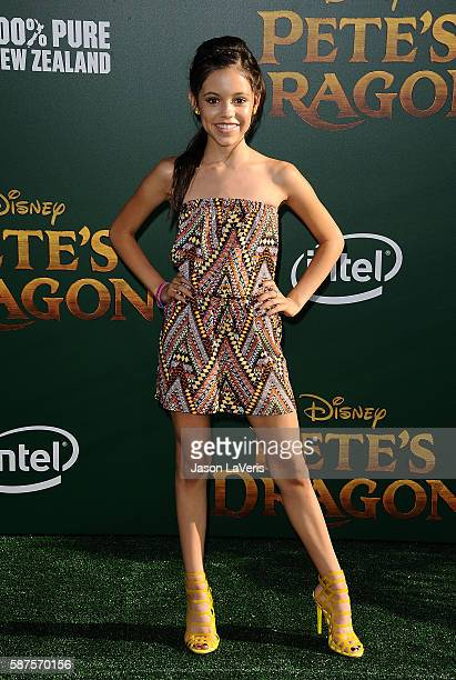 Actress Jenna Ortega attends the premiere of 'Pete's Dragon' at the El Capitan Theatre on August 8 2016 in Hollywood California