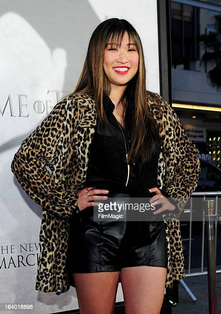 Actress Jenna Ushkowitz attends 'Game Of Thrones' Los Angeles premiere presented by HBO at TCL Chinese Theatre on March 18 2013 in Hollywood...