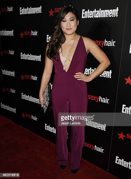 Actress Jenna Ushkowitz attends the Entertainment Weekly celebration honoring nominees for the Screen Actors Guild Awards at Chateau Marmont on...