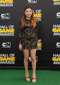 Actress Jennessa Rose attends the Cartoon Network's Hall Of Game Awards at Barker Hangar on February 15 2014 in Santa Monica California