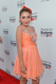 Actress Jennessa Rose attends the Staples DoSomethingorg Bella Thorne Party for the 5th Staples for Students School Supply Drive benefiting students...