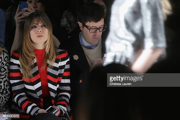 Actress Jennette McCurdy and Teen Vogue Style Features Director Andrew Bevan attend the Noon By Noor fashion show during MercedesBenz Fashion Week...