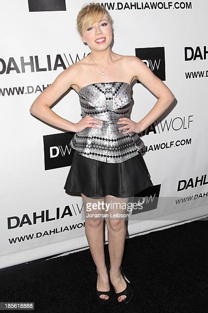 Actress Jennette McCurdy attends the Dahlia Wolf Launch Party at Graffiti Cafe on October 22 2013 in Los Angeles California