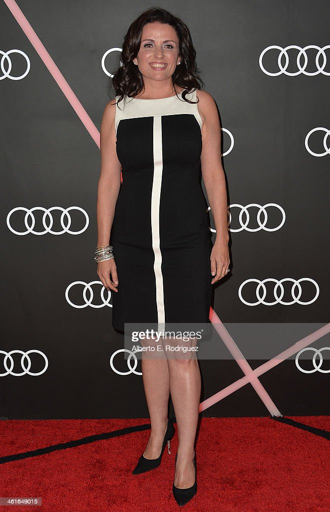 Actress <a gi-track='captionPersonalityLinkClicked' href=/galleries/search?phrase=Jenni+Pulos&family=editorial&specificpeople=4406071 ng-click='$event.stopPropagation()'>Jenni Pulos</a> arrives to Audi Celebrates Golden Globes Weekend at Cecconi's Restaurant on January 9, 2014 in Los Angeles, California.