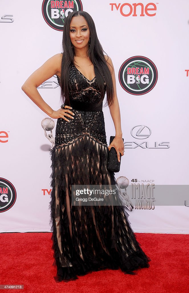 Actress <a gi-track='captionPersonalityLinkClicked' href=/galleries/search?phrase=Jennia+Fredrique&family=editorial&specificpeople=5578088 ng-click='$event.stopPropagation()'>Jennia Fredrique</a> arrives at the 45th NAACP Image Awards at Pasadena Civic Auditorium on February 22, 2014 in Pasadena, California.