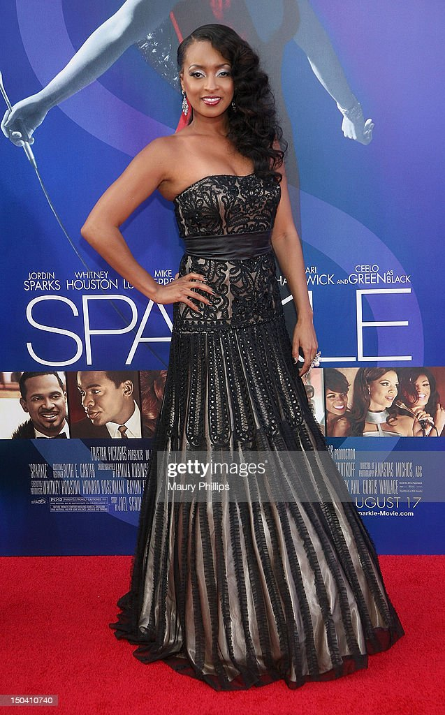 Actress Jennia Fredrique arrives at the Los Angeles Premiere of 'Sparkle' at Grauman's Chinese Theatre on August 16, 2012 in Hollywood, California.