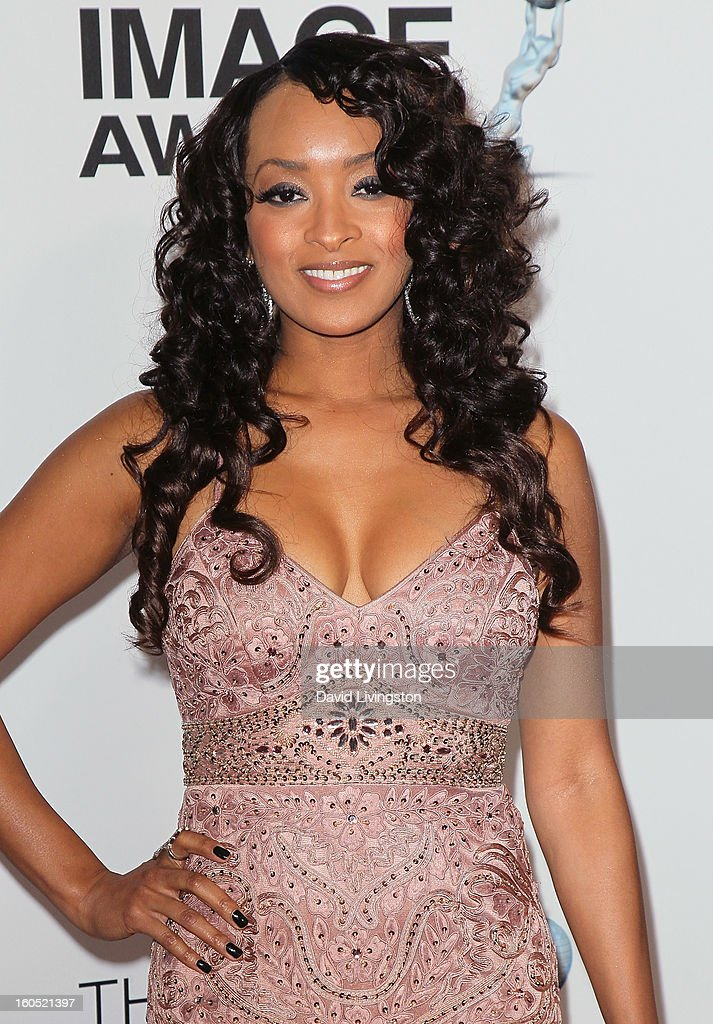 Actress Jennia Fredrique attends the 44th NAACP Image Awards at the Shrine Auditorium on February 1, 2013 in Los Angeles, California.