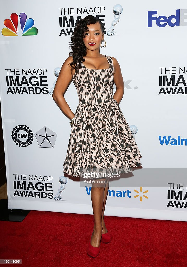 Actress Jennia Fredrique attends the 44th NAACP Image Awards nominee's luncheon on January 26, 2013 in Beverly Hills, California.
