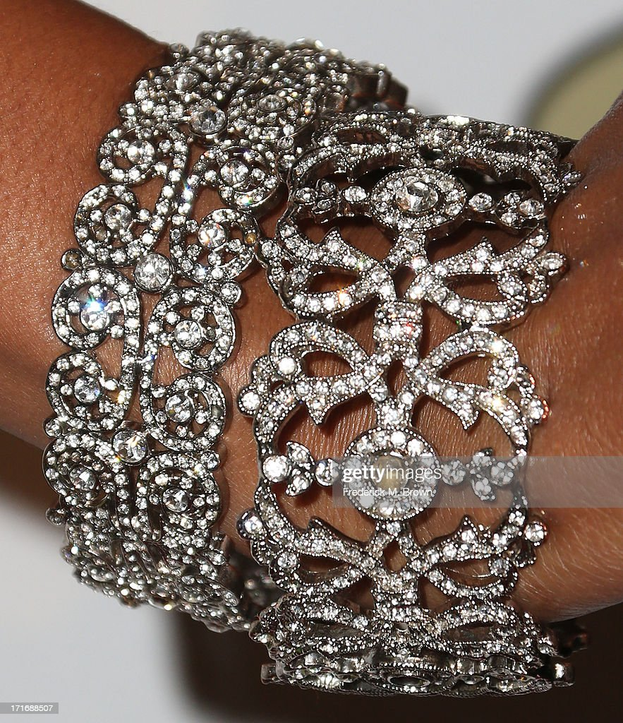 Actress Jennia Fredrique (bracelet detail) attends The American Society of Composers, Authors and Publishers (ASCAP) 26th Annual Rhythm & Soul Music Awards at The Beverly Hilton Hotel on June 27, 2013 in Beverly Hills, California.