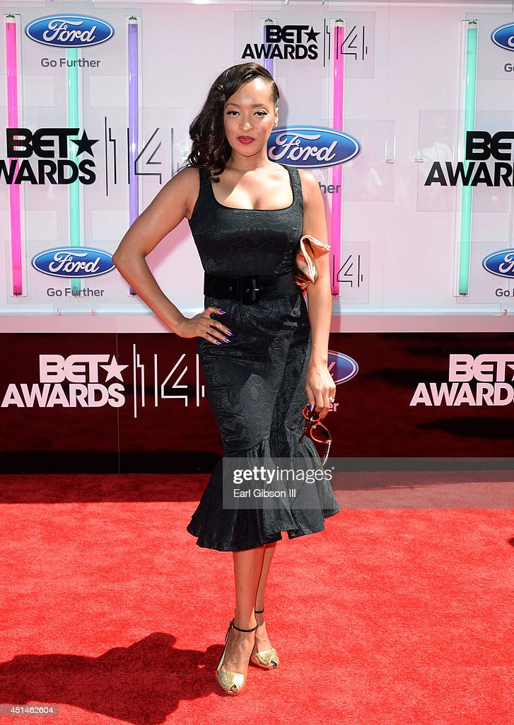 Actress Jennia Fredrique attends the BET AWARDS '14 at Nokia Theatre L.A. LIVE on June 29, 2014 in Los Angeles, California.