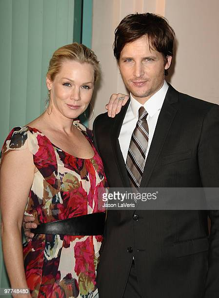 Actress Jennie Garth and actor Peter Facinelli attend an evening with 'Nurse Jackie' at Leonard H Goldenson Theatre on March 15 2010 in North...