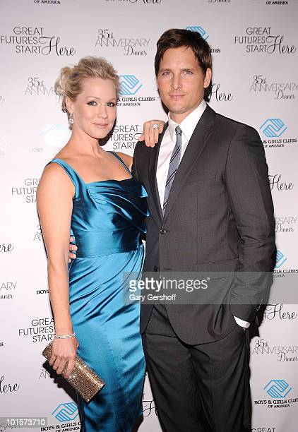 Actress Jennie Garth and actor Peter Facinelli attend the 2010 Boys and Girls Clubs of America's Chairman's Gala at The Waldorf Astoria on June 2...