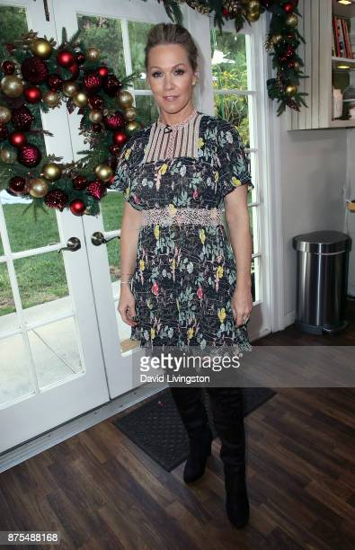 Actress Jennie Garth visits Hallmark's 'Home Family' at Universal Studios Hollywood on November 17 2017 in Universal City California