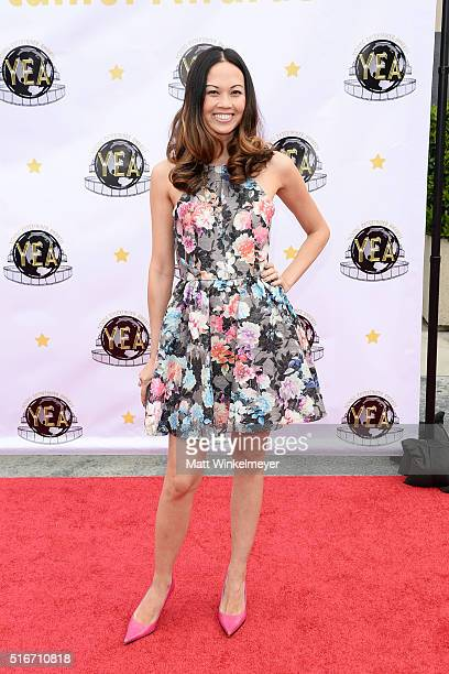 Actress Jennie Kwan arrives at the 1st annual Young Entertainer Awards at The Globe Theatre at Universal Studios on March 20 2016 in Universal City...