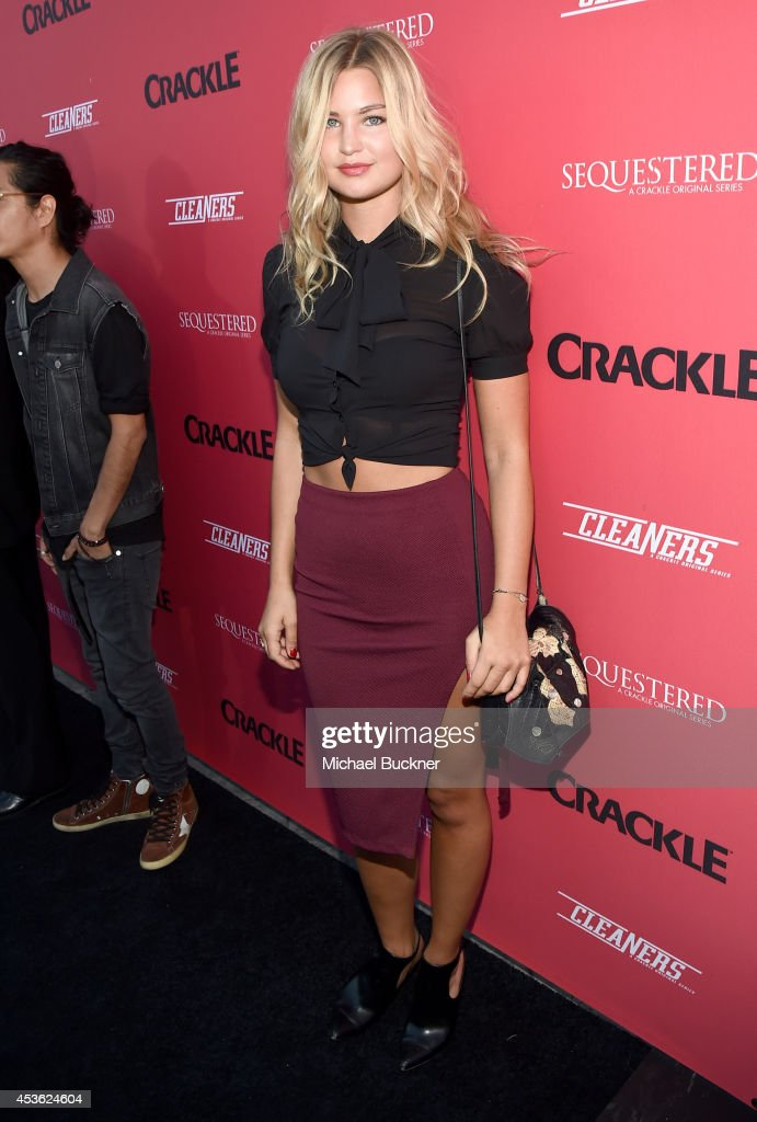 Actress <a gi-track='captionPersonalityLinkClicked' href=/galleries/search?phrase=Jennifer+Akerman&family=editorial&specificpeople=6129403 ng-click='$event.stopPropagation()'>Jennifer Akerman</a> attends Crackle Presents: Summer Premieres Event for originals, 'Sequestered' and 'Cleaners' at 1 OAK on August 14, 2014 in West Hollywood, California.