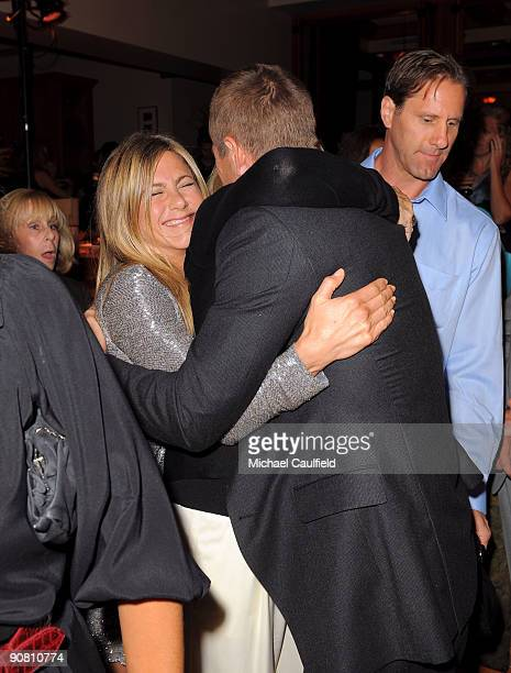 Actress Jennifer Aniston and actor Aaron Eckhart attend the Premiere Of Universal Pictures' 'Love Happens' After Party on September 15 2009 in...