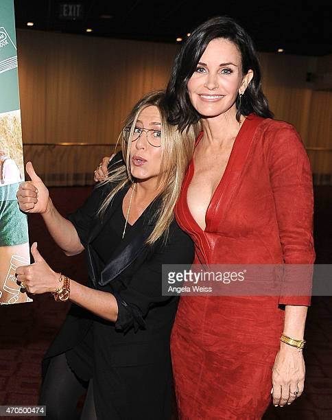 Actress Jennifer Aniston and director Courteney Cox attend the Los Angeles Special Screening of 'Just Before I Go' at ArcLight Hollywood on April 20...