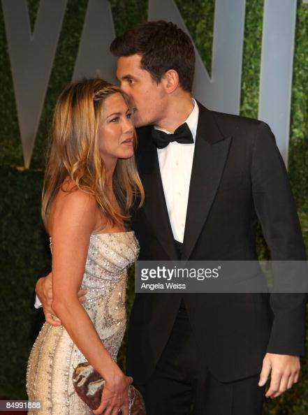 Actress Jennifer Aniston and musician John Mayer arrive at the 2009 Vanity Fair Oscar Party hosted by Graydon Carter held at the Sunset Tower on...