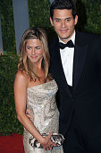 Actress Jennifer Aniston and singer John Mayer arrive at the Vanity Fair Dinner and After Party celebrating the 81st Academy Awards at the Sunset...
