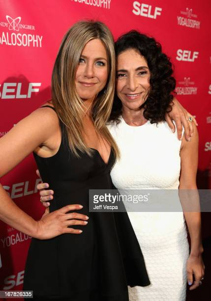 Actress Jennifer Aniston and Yoga instructor/author Mandy Ingber attend SELF Magazine and Jennifer Aniston's celebration of Mandy Ingber's new book...
